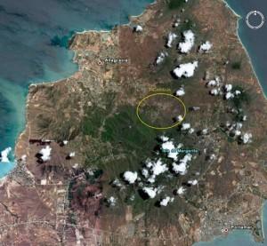 La Isla de Margarita y el valle de Tacarigua vistos desde el espacio - FOTO NASA
